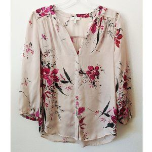 Joie (Anthropologie) Women's Floral Print Pink Top